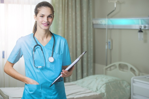 nurse holding clipboard